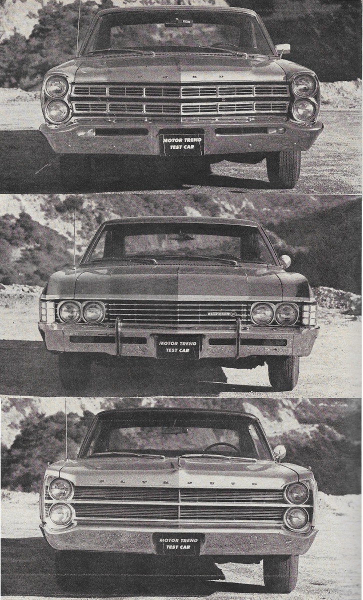 Vintage comparison test 1967 chevrolet impala ss ford galaxie 500 plymouth sport fury sampling 2 door hardtops from the low priced three