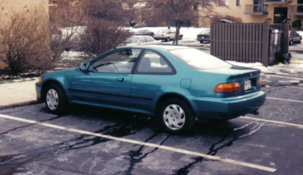 Rear view of Honda Civic Coupe