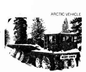 16-wheel Fabco Arctice Vehicle, for transporting loads with low ground pressure in the Arctic and Antarctic. Even the Front Wheels are dually's