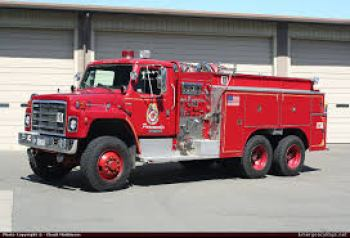 International S-Series Fire Truck with Fabco front driving axle and transfer case