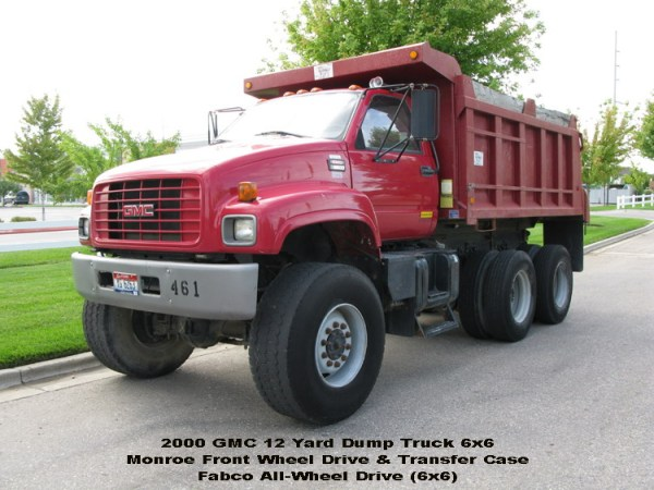 GMC with FABCO AWD, by Monroe Truck and Equipment, with Dump Body