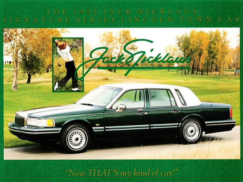 Coal 1993 Lincoln Town Car Jack Nicklaus Edition A Hole In One