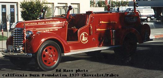 1937 Chevrolet/Fabco Fire Engine, belonging to the California Burn Foundation.