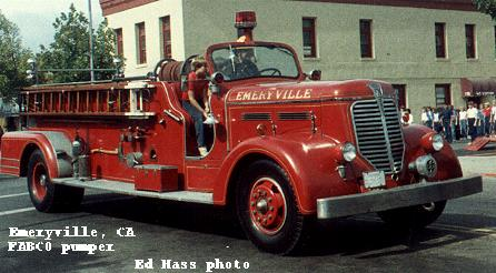1941 Fabco Fire Engine, owned by the City of Emeryville, CA