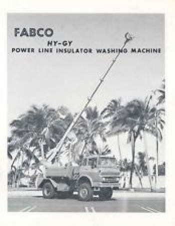 Fabco Hy-Gy Power Line Insulator Washing Machine, mounted on an C-Series Ford Chassis