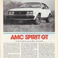 Brendan's excellent post on the Spirit GT captures AMC's Herculean efforts to create something out of nothing. In February 1979, Car and Driver reviewed the Spirit GT, read on to […]