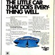 The excitement for the 1971 Chevrolet Vega started a year early, with teaser ads showing all of the technology and design features. As an 18 year old, I was eagerly […]