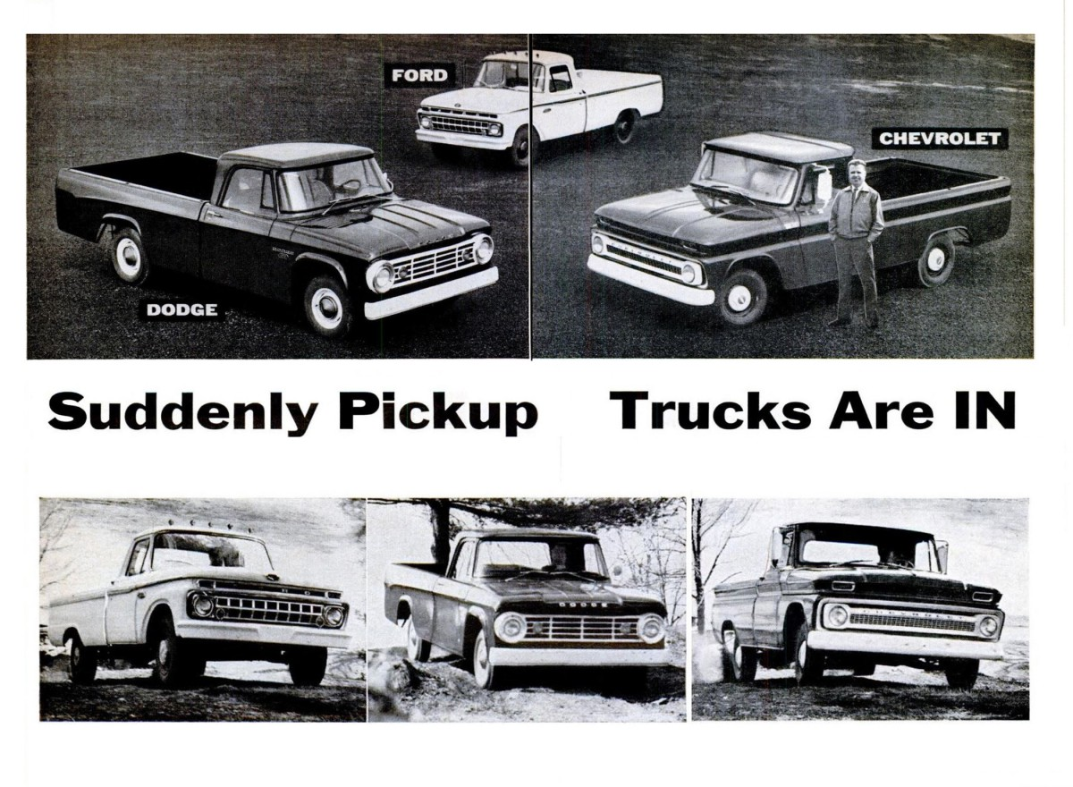 Vintage Review Popular Science Tests The 1965 Chevrolet Dodge And 1961 Pickup Truck Ford Pickups Suddenly Trucks Are In