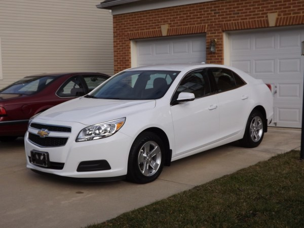 Front view of 2013 Chevy Malibu