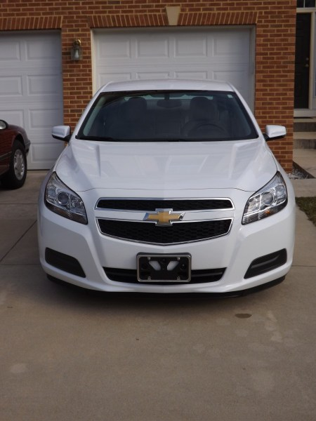 Front of 2013 Chevy Malibu