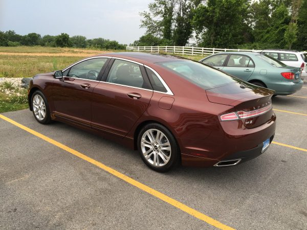 Rear view of 2016 Lincoln MKZ