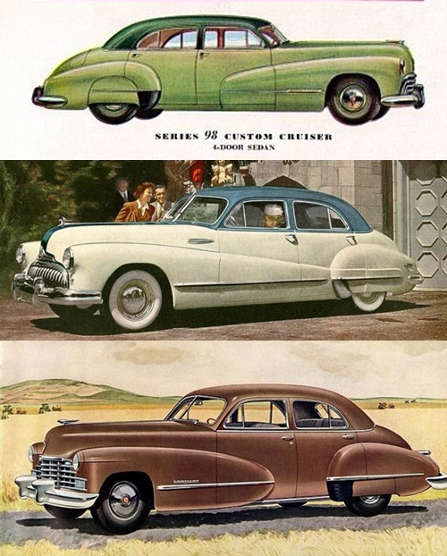 1949 Buick Super: The 1946-47 C Body Cars, Top To Bottom: 1947 Oldsmobile 98