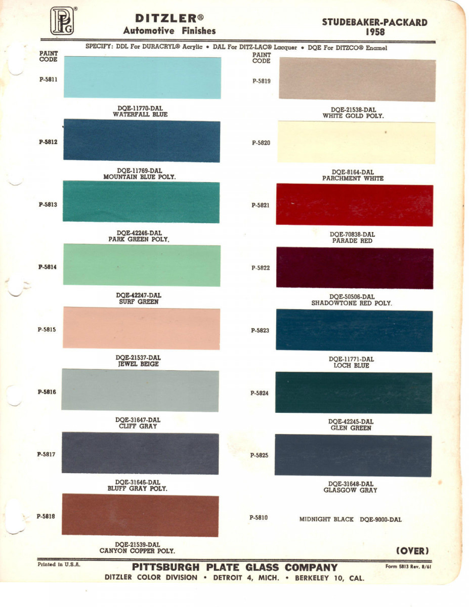 Cc Color Commentary Two Strange Tones 1957 Chevy Truck Paint Colors Beyond The Fins Low Buck Quad Headlight Conversion And Even Lower Interior Studebakers 1958 Chart Was Kind Of Lets Call It