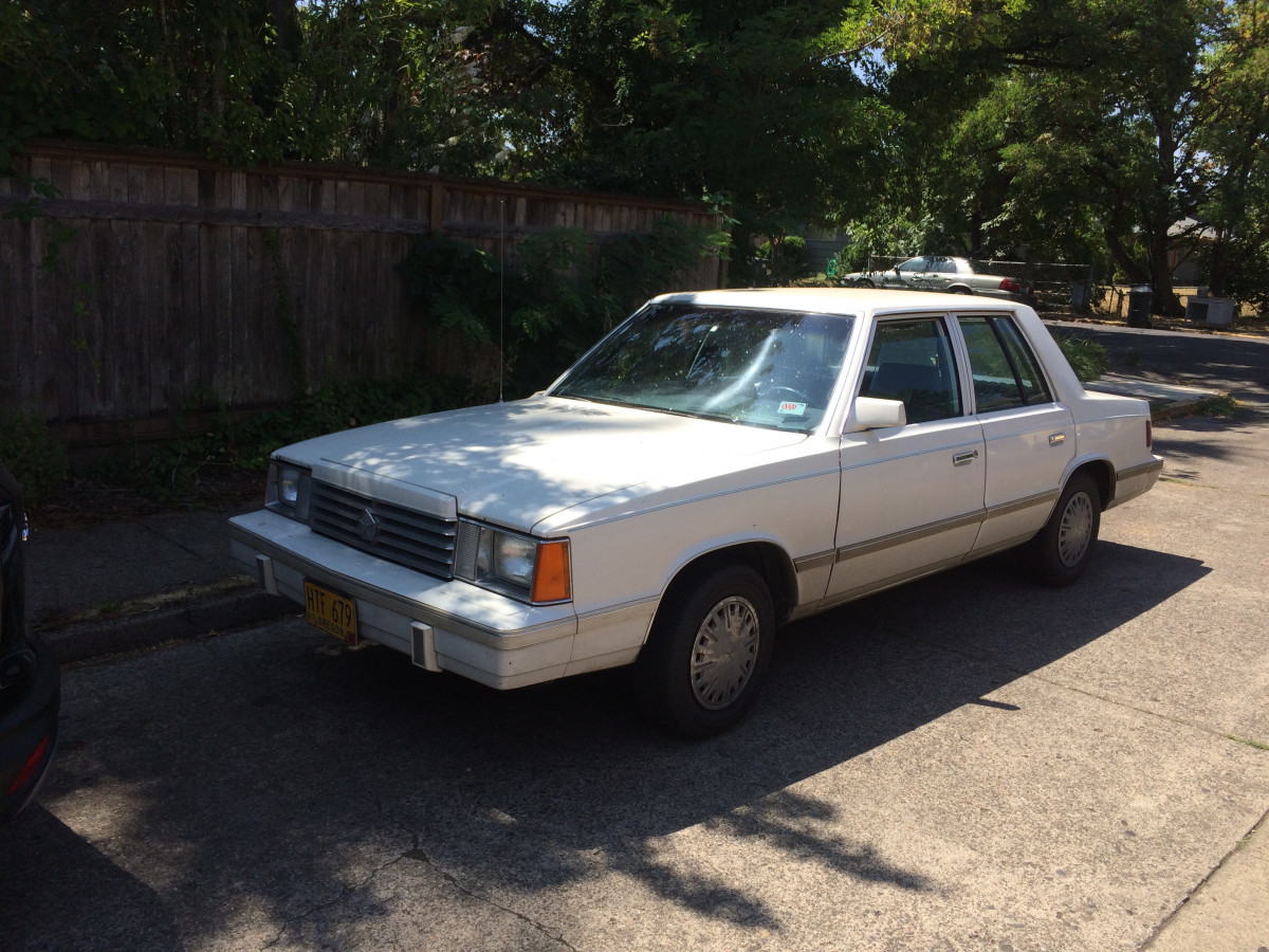 Curbside Classic Lite 1984 Dodge Aries When A Compact Sedan Was Toyota 22r Carburetor Diagram Ponycars Here It Is 2018 And As Im Shooting This One The Firts Of Its Kind Ive Seen In Some Time Owner Comes Strolling From Across Street With