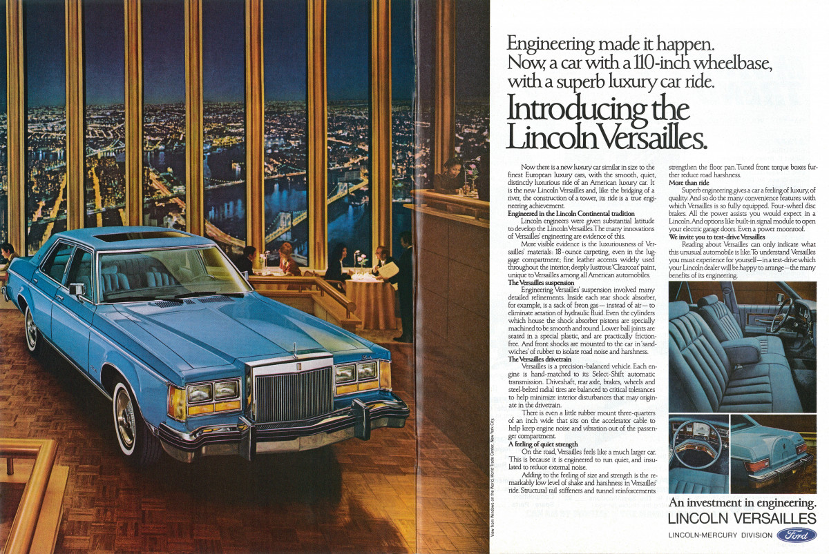 but while folks disagree about the virtues of continental's bustleback,  there is one thing that most people agree upon: the continental was a big