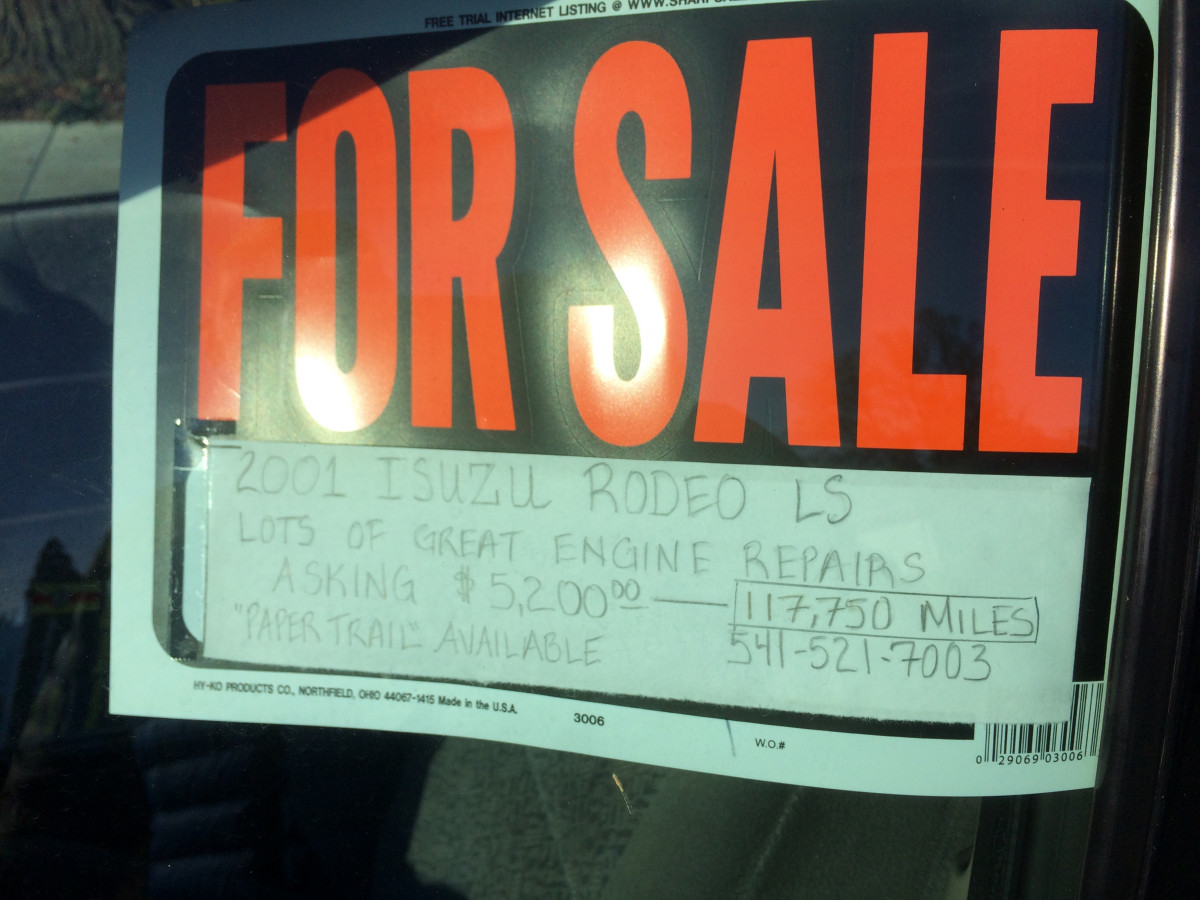"""CC For Sale: 2001 Isuzu Rodeo – """"Lots Of Great Engine"""