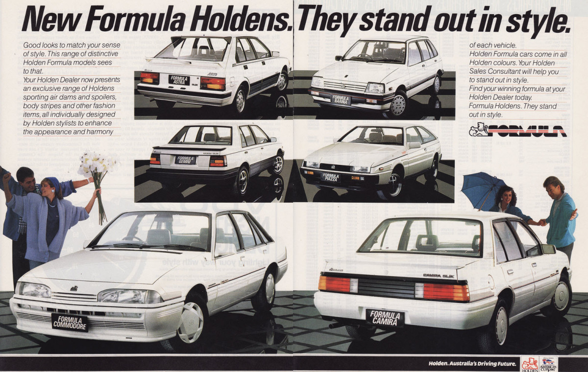 Ad Outtake The 1986 Formula Holdens One Big Family