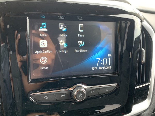 GM 7-inch infotainment system