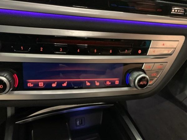 2019 BMW 750d Climate Control Panel