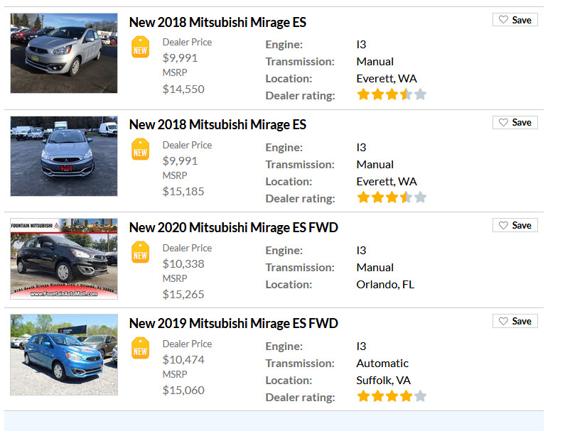 qotd why don t cheap new cars sell would you buy a new mitsubishi mirage for 9 991 curbside classic would you buy a new mitsubishi mirage