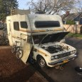 This 1970's vintage Toyota Dolphin mini-motorhome had been sitting at the curb on our walk for a couple of months. Then one day I saw it was requiring some ministrations. […]