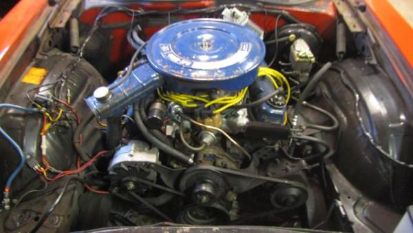 Engine Compartment 1972 Ford Gran Torino Sport - unrestored