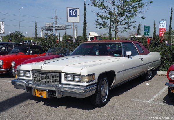 1975 White Cadillac Coupe DeVille