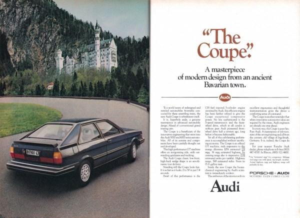1981 Audi Coupe ad