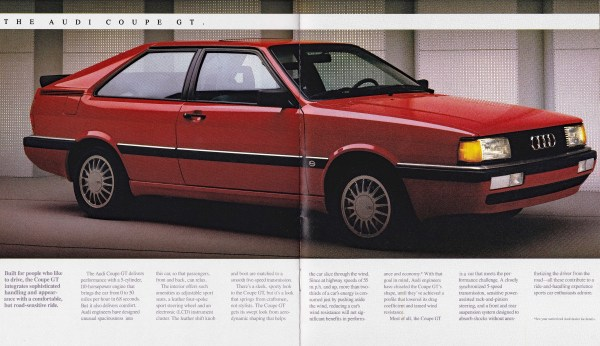 1987 Audi Coupe GT brochure