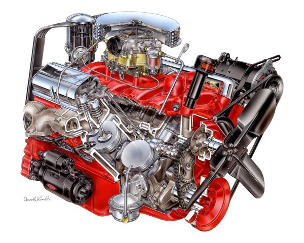 Chevrolet small-block cutaway