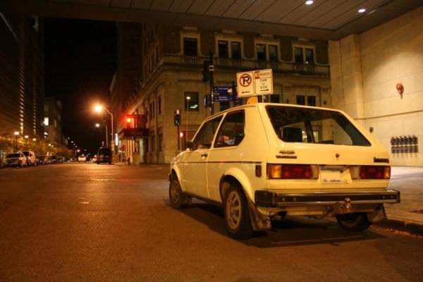 1981 Volkswagen Rabbit, rear three-quarter view