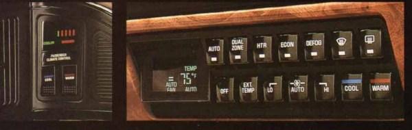 1991 Buick Dual ComforTemp system