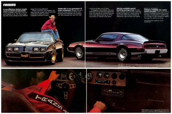 1981 Pontiac Firebird brochure photos, courtesy of www.oldcarbrochures.com