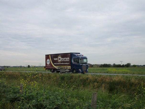 Scania flatbed truck