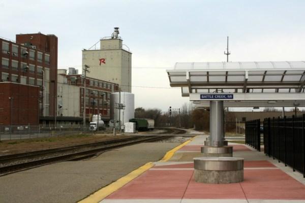 Battle Creek, Michigan Amtrak station. 11/19/2012.