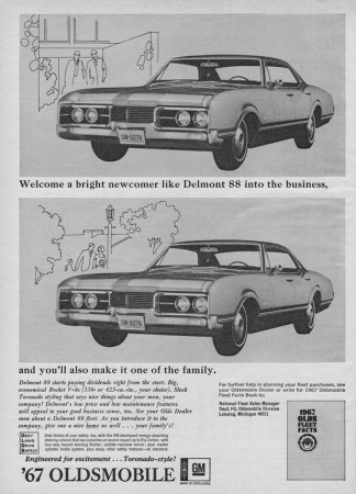 1967 Oldsmobile Delmont 88 fleet ad