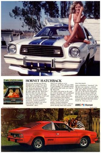 1977 Ford Mustang II Cobra II & AMC Hornet AMX.
