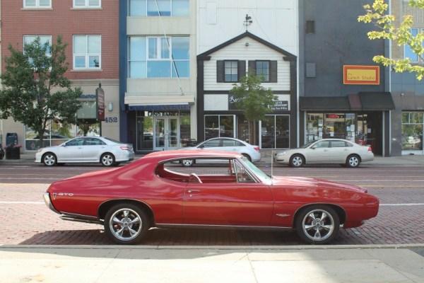 1968 Pontiac GTO. Downtown Flint, Michigan. 8/06/2016.
