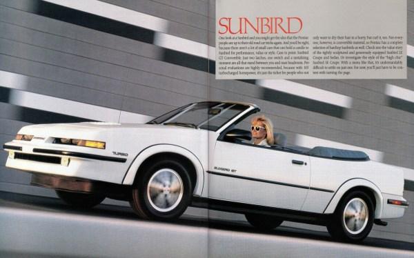 1989 Pontiac Sunbird convertible brochure