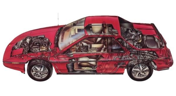 Pontiac Fiero cutaway