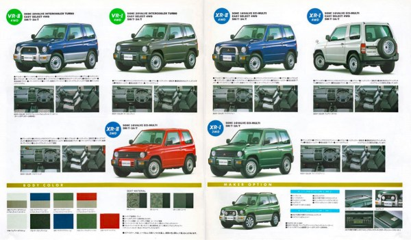 1997 Mitsubishi Pajero Mini brochure