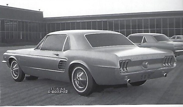 1967 Ford Mustang hardtop clay model