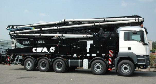 Cifa K52L truck mounted concrete pump