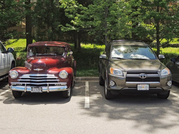 1947 Chevrolet Stylemaster and 2010 Toyota RAV4