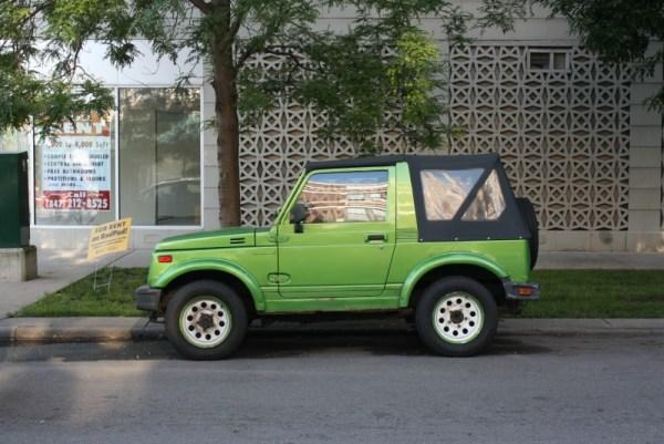 1988 Suzuki Samurai. Rogers Park, Chicago, Illinois. Friday, July 9, 2015.