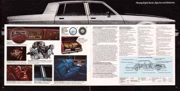 1982 Oldsmobile Ninety-Eight Regency brochure pages are courtesy of www.oldcarbrochures.com.