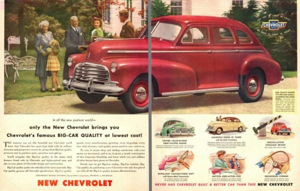 1946 Chevrolet Stylemaster ad