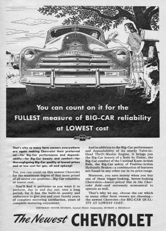 1947 Chevrolet ad