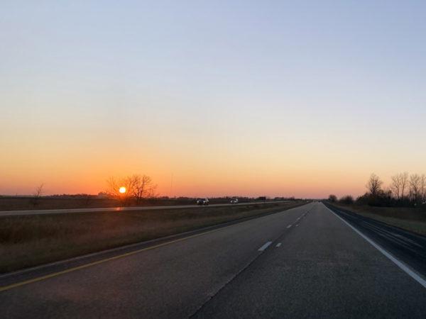 Illinois I-72 East Sunrise
