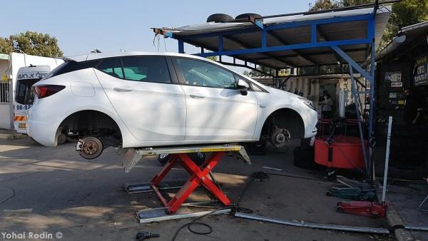 White Opel Astra K